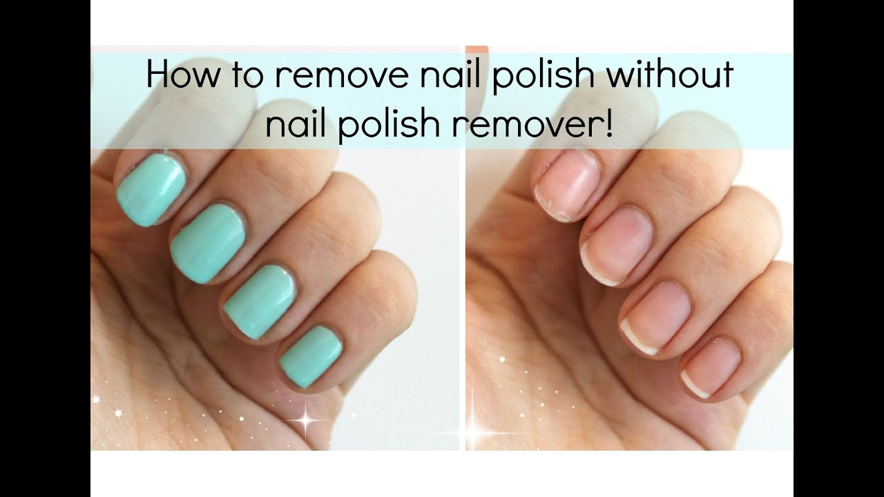 How to Remove Fingernail Polish