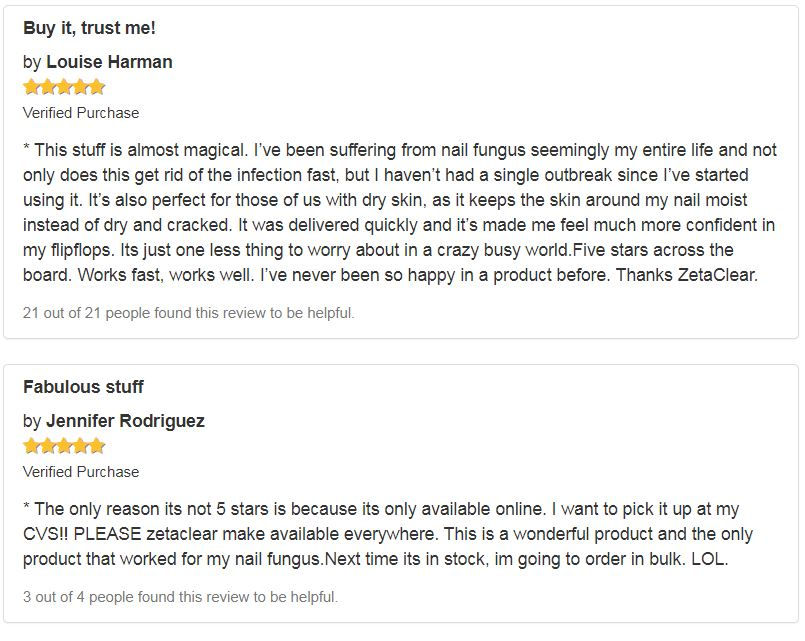 Zetaclear Amazon Customer Reviews