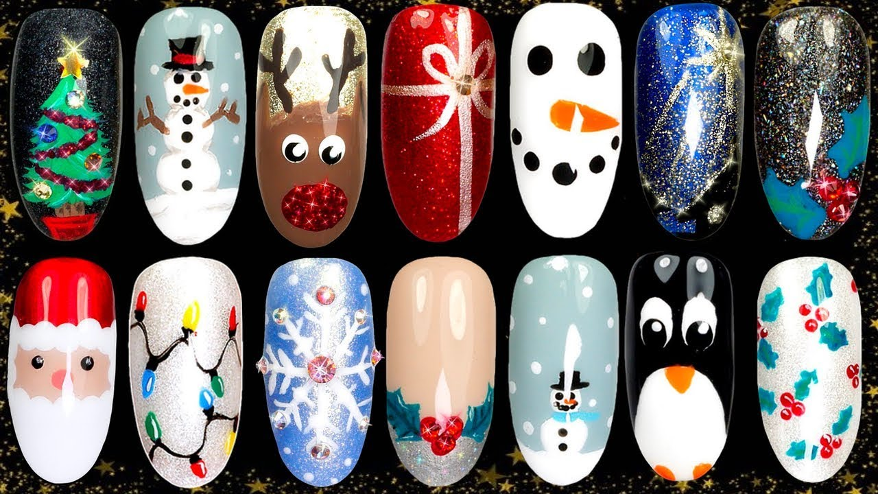 christmas easy nail art designs