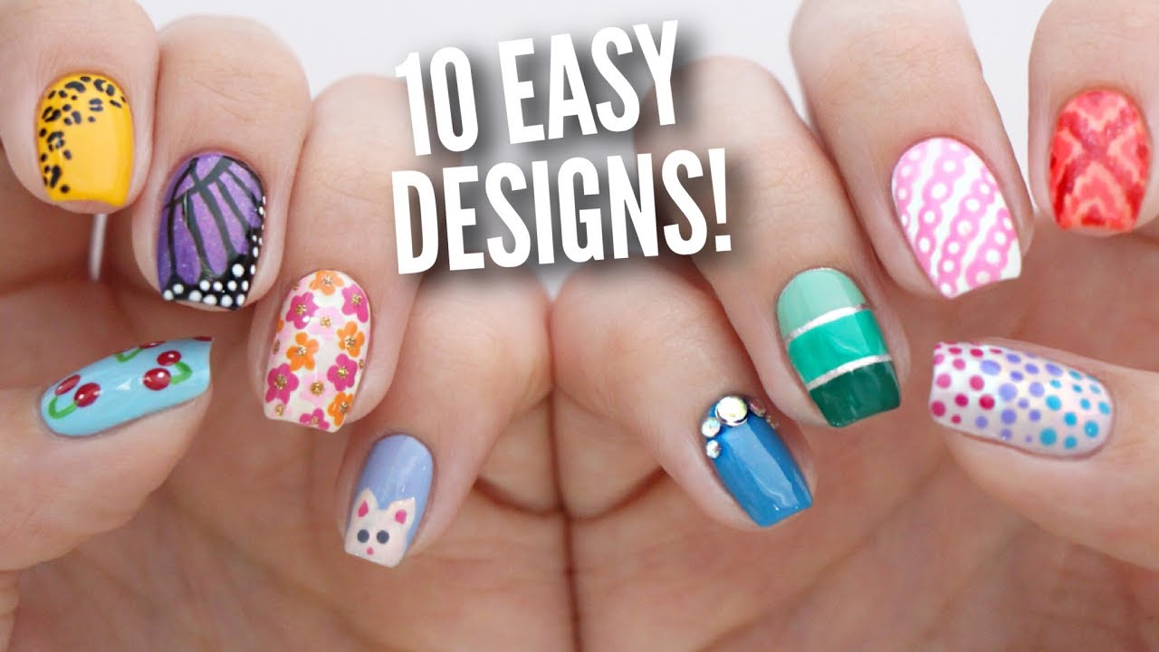 nail art design easy steps