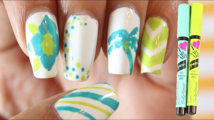 sally hansen nail art pen design ideas